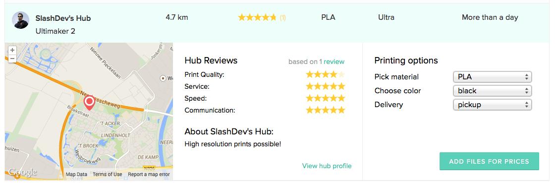 /Dev op 3D Hubs